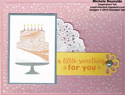 Party wishes artistic swirl cake watermark