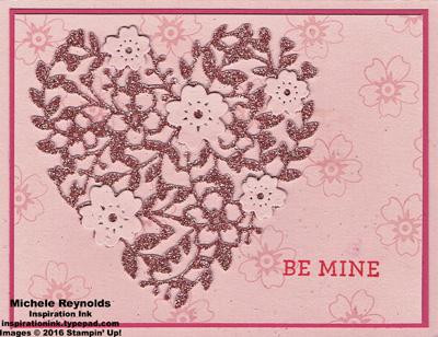 Bloomin love be mine glitter heart watermark