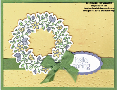 Circle of spring hello spring wreath watermark