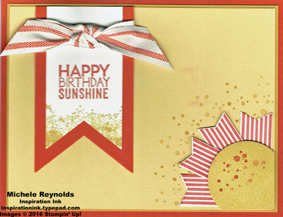 Ray of sunshine textured sunshine birthday watermark
