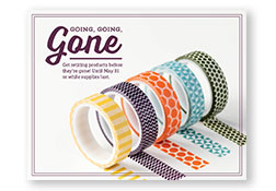Going going gone washi tape