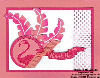 Pop of paradise flamingo feathers watermark