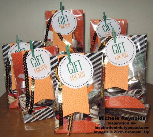 Perfectly wrapped ribbon bags