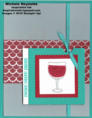 Mixed drinks red wine cheers watermark
