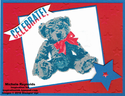 Baby bear patriotic bear watermark
