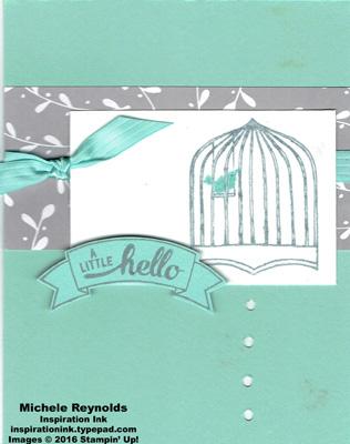 Badges & banners hello birdcage watermark