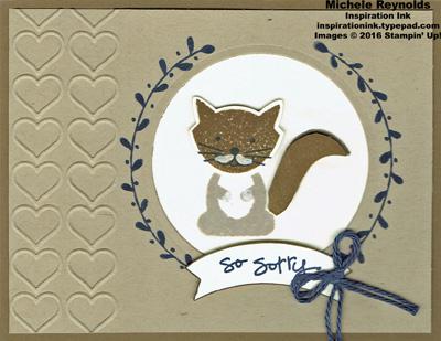 Foxy friends mustache kitty sympathy watermark