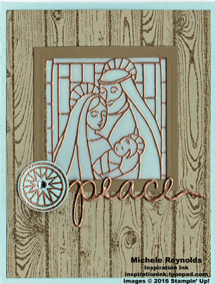 Gentle peace copper window scene watermark