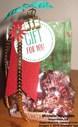 Perfectly wrapped christmas gift bag