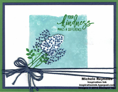 Thoughtful branches blue hyacinth kindness watermark