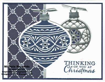 Embellished ornaments navy ornament watermark