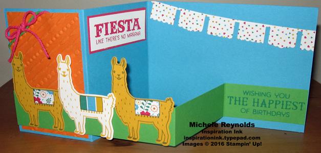 Birthday fiesta line of llamas double z open