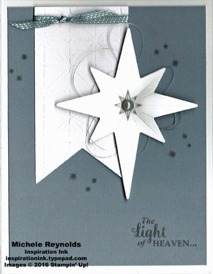 Star of light pearl star watermark