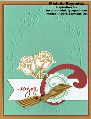 Paisleys & posies enjoy framed watermark