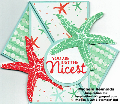 Picture perfect sea stars twist card watermark