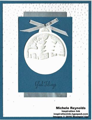 Merriest wishes packing tape glitter ornament watermark