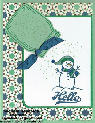 Jar of cheer snow sprinkled snowman watermark