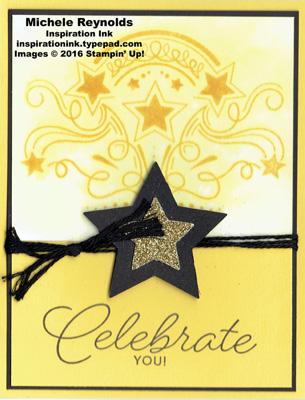Birthday blast watercolor bleed stars watermark