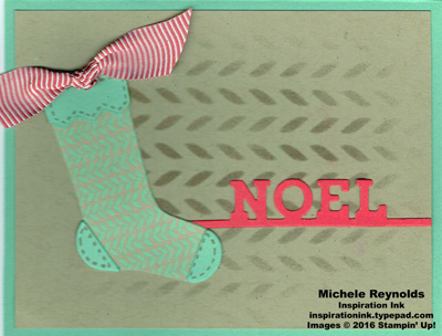 Hang your stocking pastel noel watermark