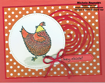 Hey, chick watercolor pencil chicken watermark