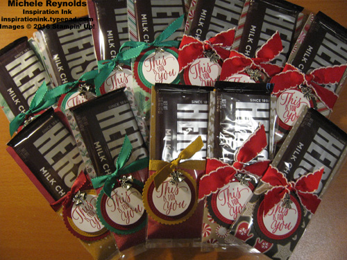 Tin of tags hershey bar treats