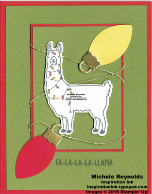 Fa-la-la-la friends tangled up llama watermark
