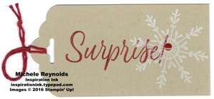 Tin of tags surprise snowflake tag watermark