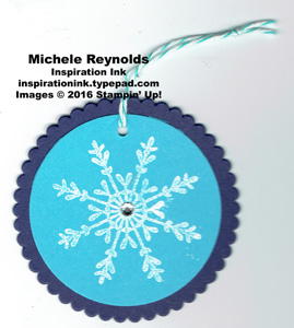 Tin of tags snowflake tag watermark