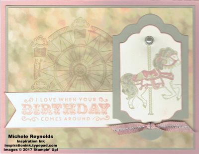 Carousel birthday lovely horse watermark