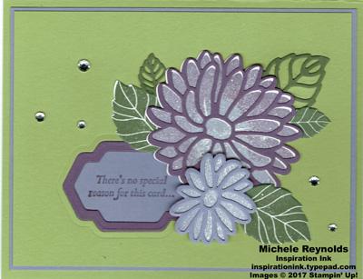 Special reason flower framed sentiment watermark