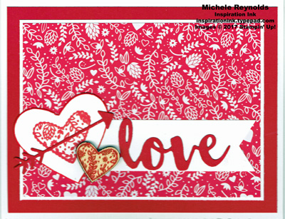 Sealed with love hearts love watermark
