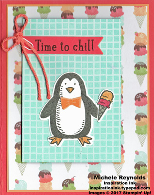 Snow place ice cream penguin watermark