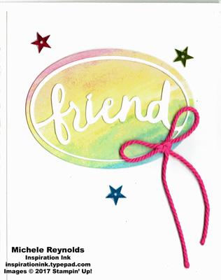 Lovely words thinlits rainbow friend watermark