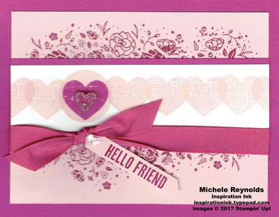 Wood words line of hearts watermark