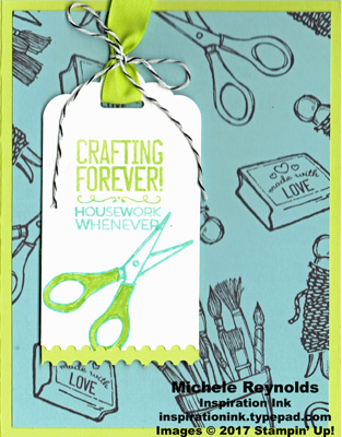 Crafting forever housework never tag watermark