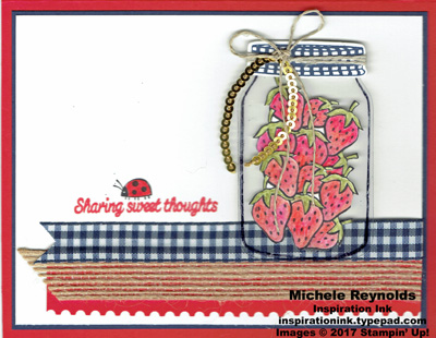 Sharing sweet thoughts ribboned strawberry jar watermark
