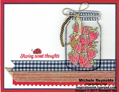 Sharing sweet thoughts ribboned strawberry jar watermark
