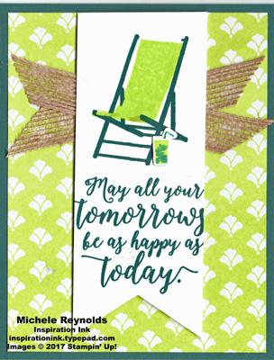 Colorful seasons lemon lime beach chair watermark