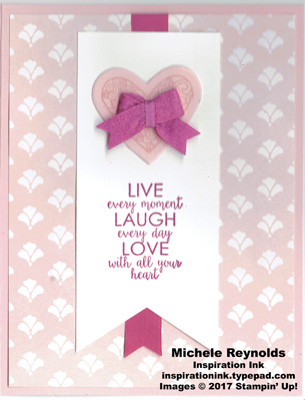Ribbon of courage live laugh love heart watermark