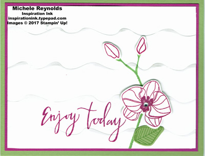 Climbling orchid ruffles watermark