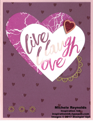 Layering love live laugh love hearts watermark