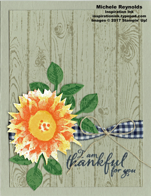 Painted harvest thankful sunflower watermark