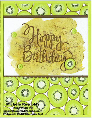 Stylized birthday brusho kiwi watermark