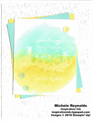 Happy wishes pastel blend wish watermark