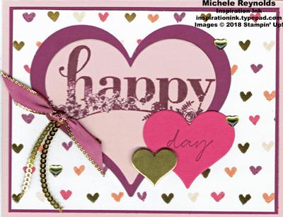 Happy wishes valentine hearts watermark