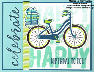 Bike ride celebrate happy bike watermark