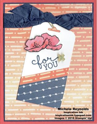 Birthday blooms flower tag card watermark