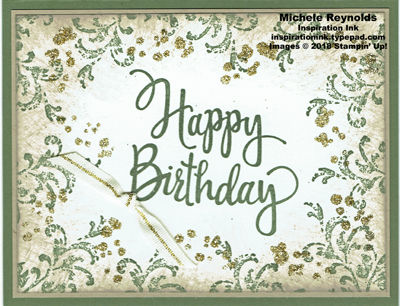 Stylized birthday timeless glitter watermark
