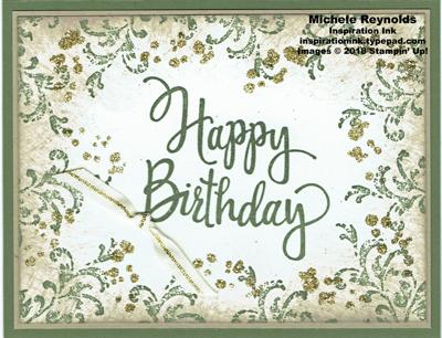 Stylized birthday timeless glitter watermark