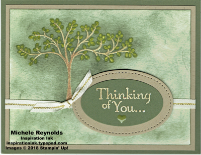 Thoughts & prayers green tree watermark